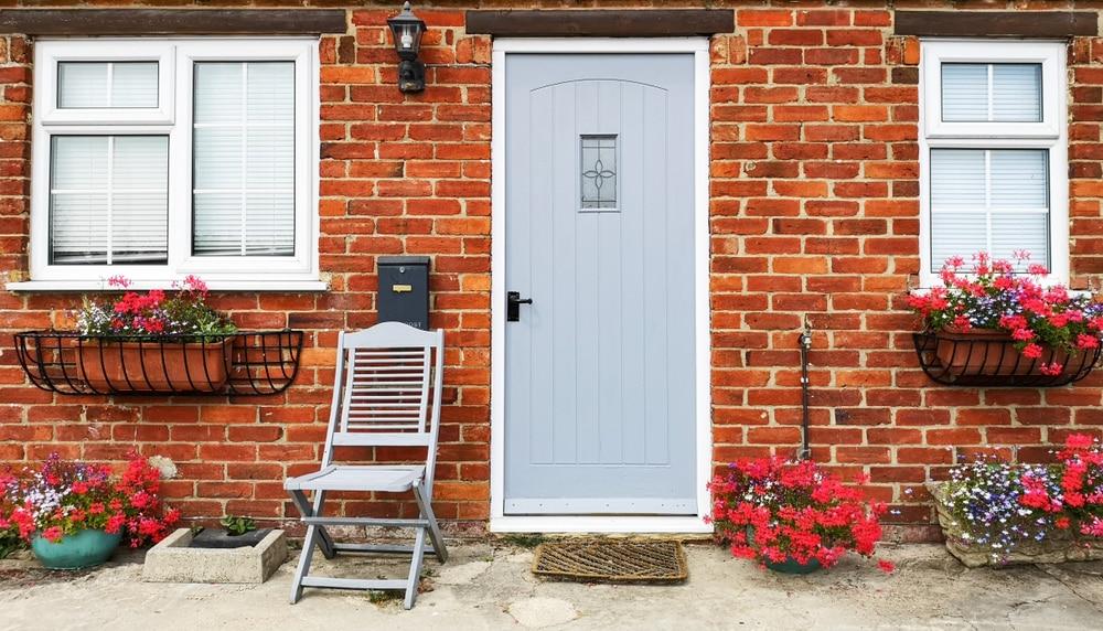 Grey compsoite front door